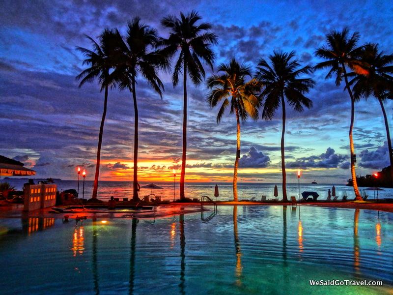 Sunset at Palau Pacific Resort