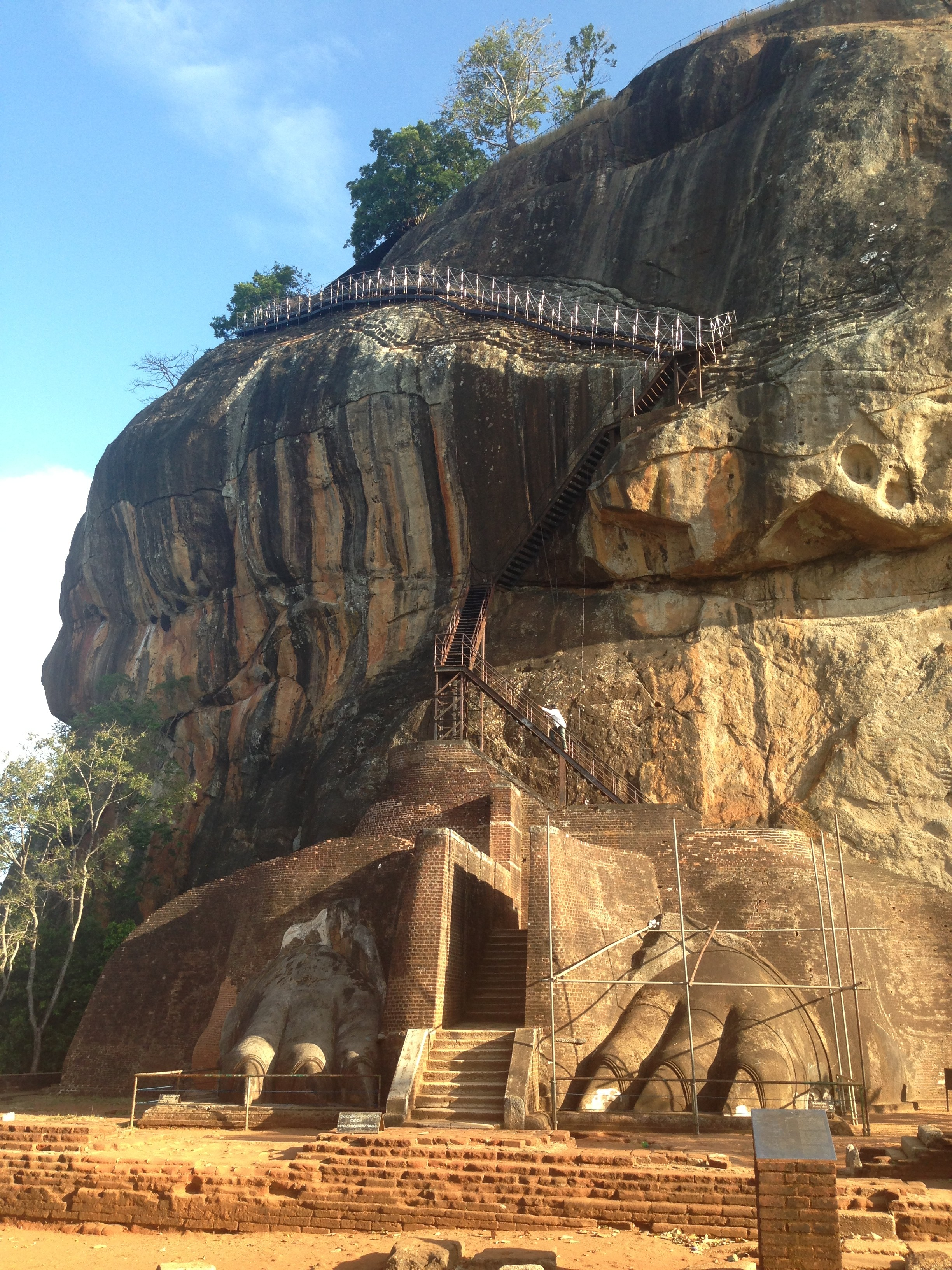 Sigiriya - showing lion's paws