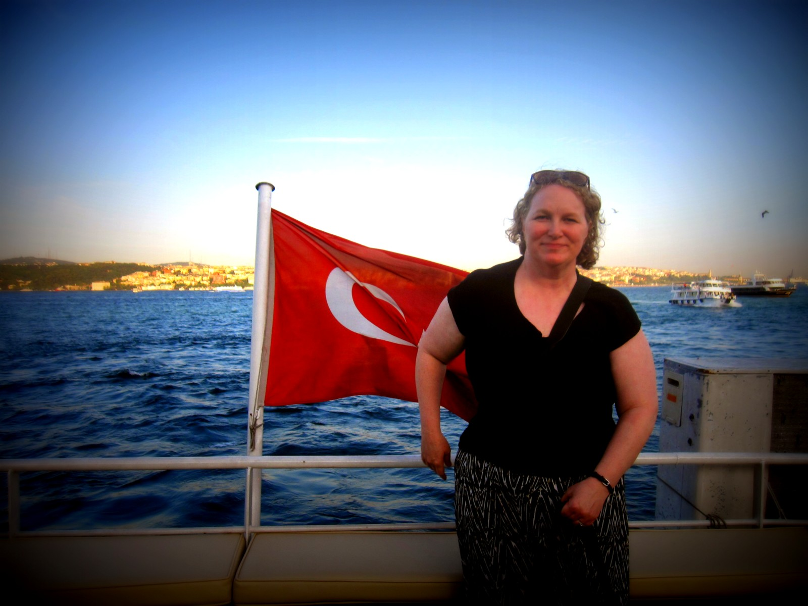 Jessie Voigts on the Bosphorus, Turkey