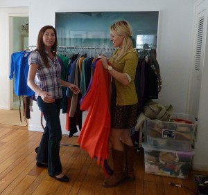 Lisa getting Styled with Kristina Van Dyk