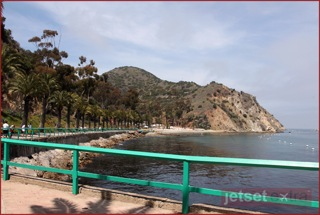 View of Descanso Beach from Avalon Harbor
