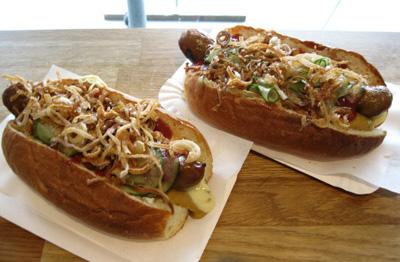 Grand Danois all-pork hot dogs at Andersen Bakery in Copenhagen