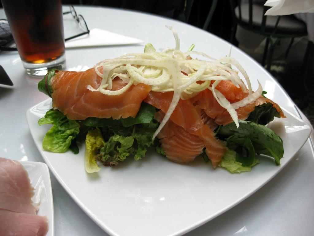 The smoked salmon sandwich at the Café Glyptotek in Copenhagen