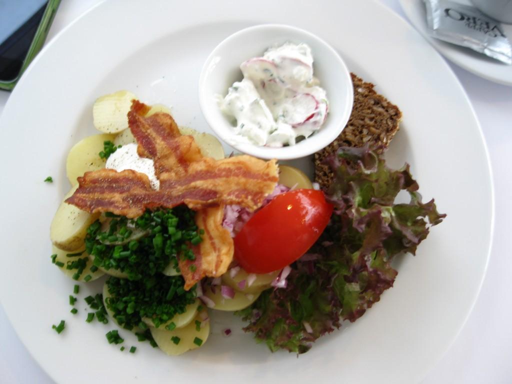 Potato sandwich at Café Hovedtelegrafen in Copenhagen