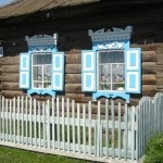 Beautiful Window Shutters on Siberian Village Home