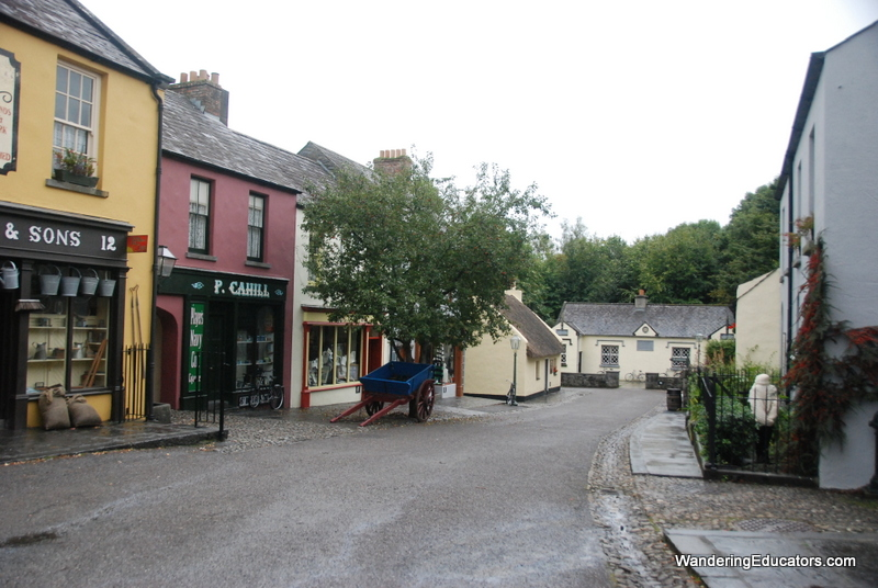 19th c street scene, Bunratty Folk Park