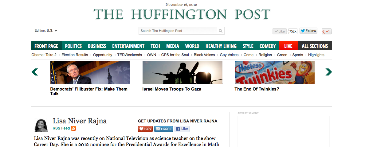 huff post lisa niver page