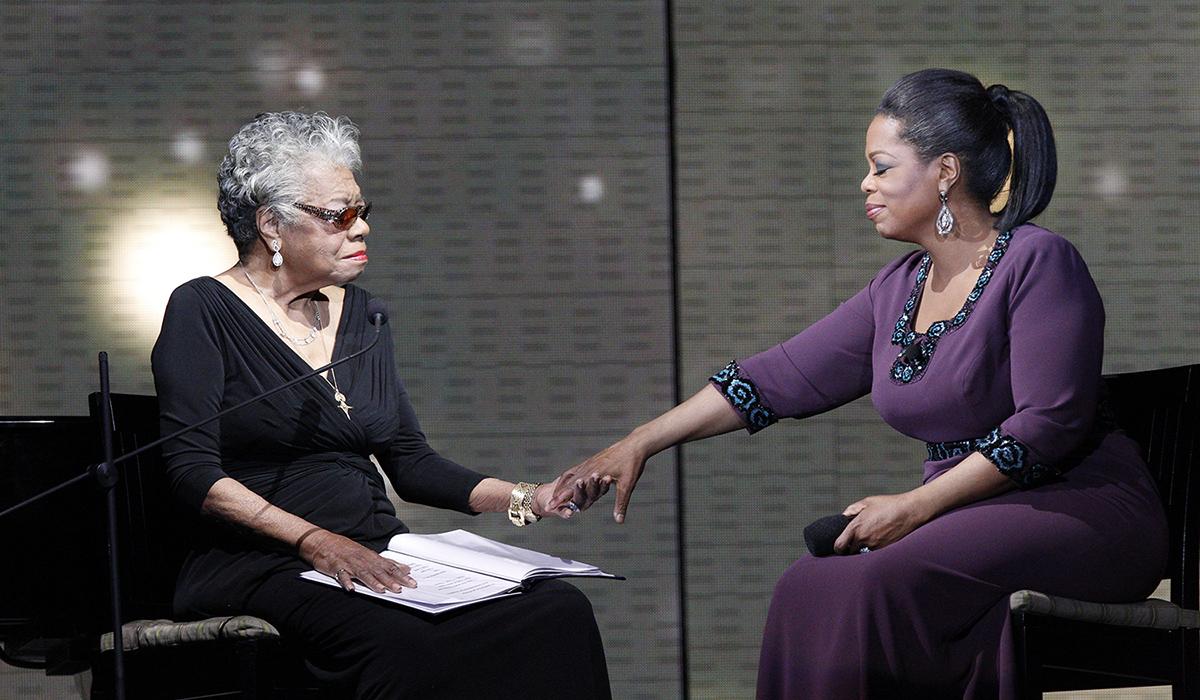 Dr. Maya Angelou & Oprah Winfrey from http://www.mayaangelou.com/