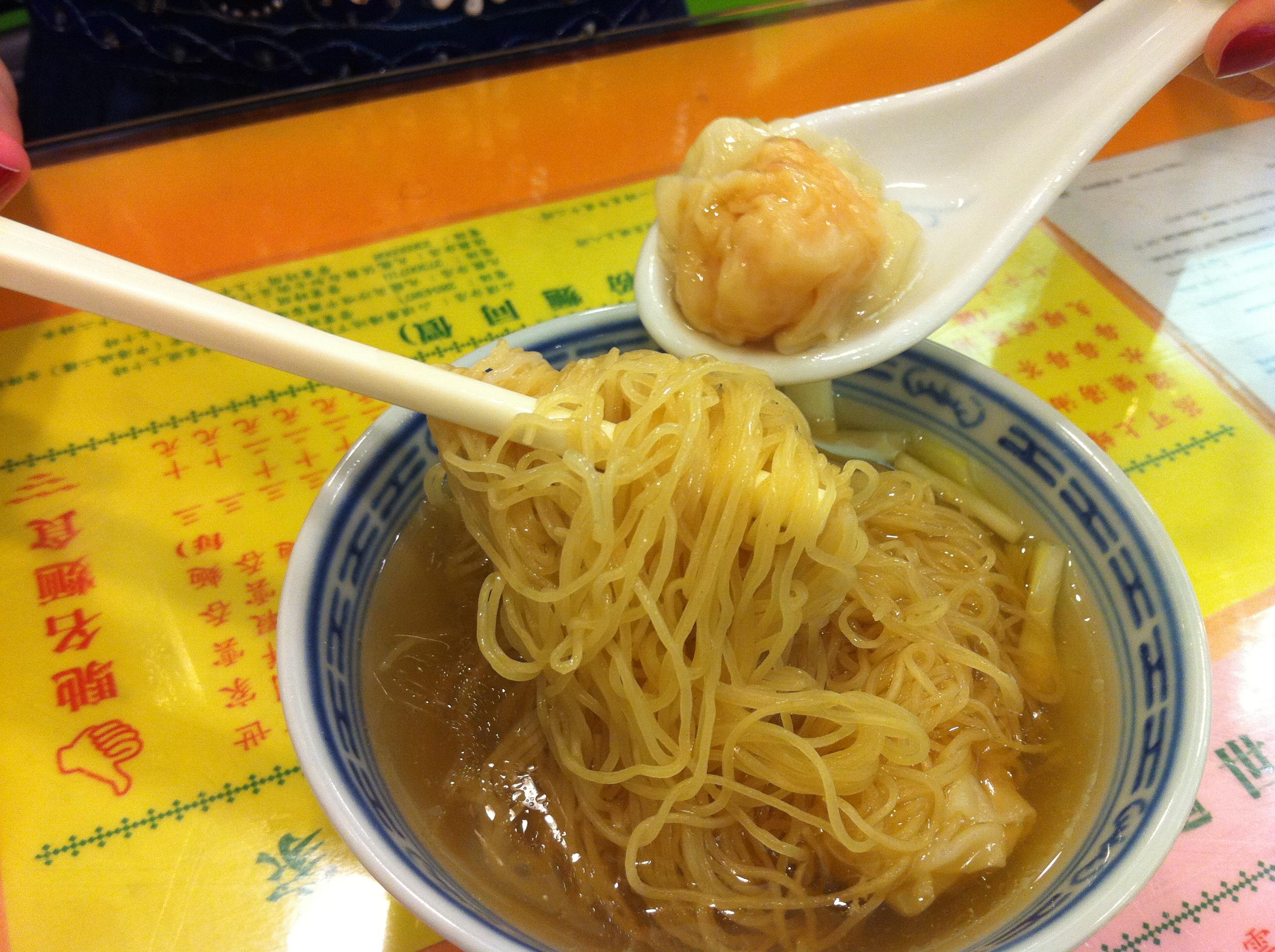 Mouthwatering wonton noodles at Mak's Noodles