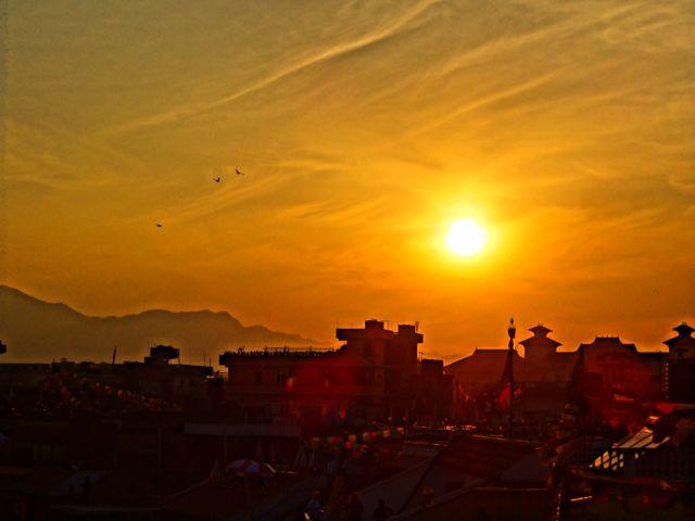 sunset stupa