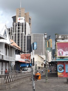 Port Louis - the capital city of Mauritius
