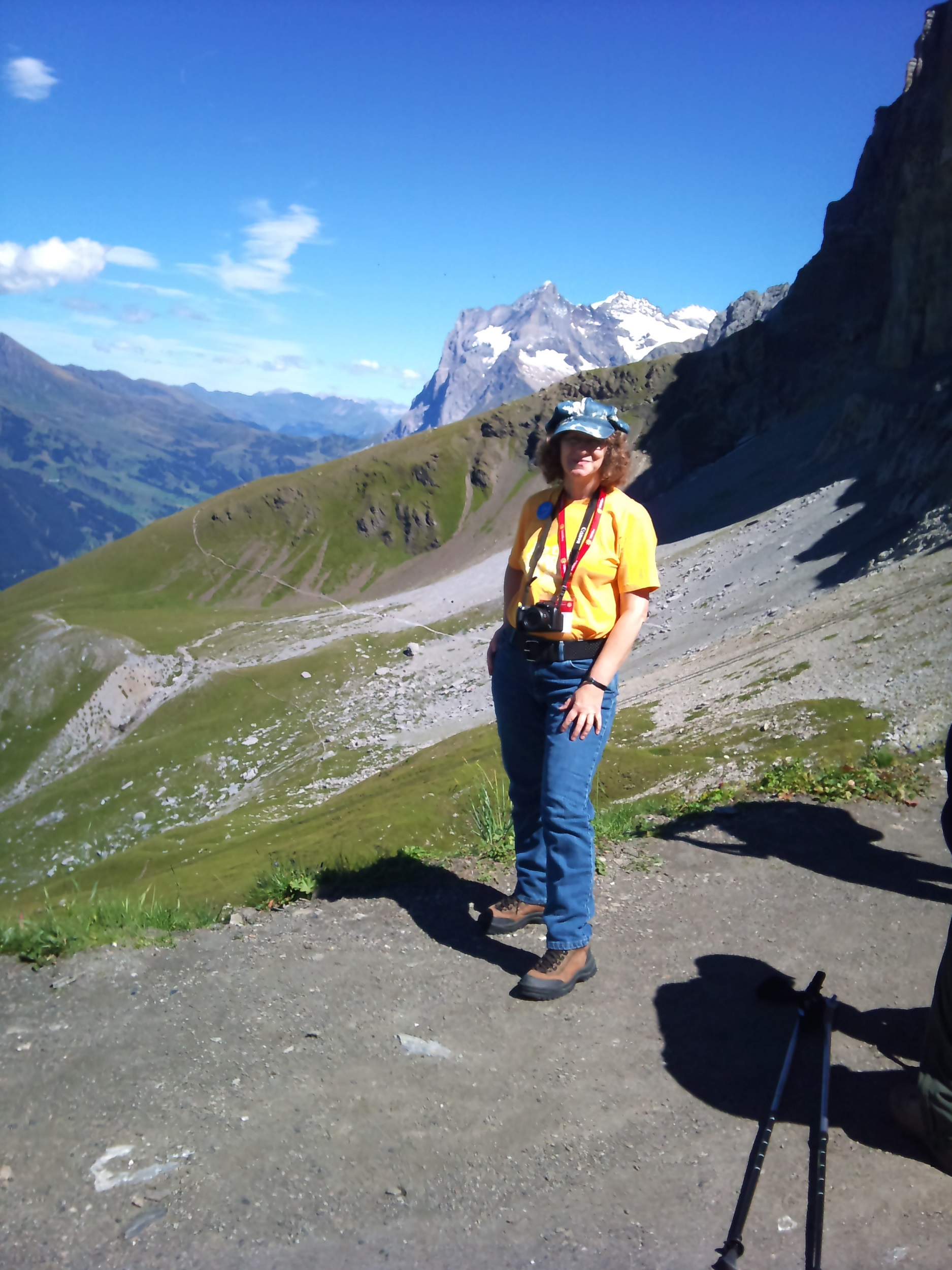 I boarded the train down the mountain braced my feet against the incline to keep in my seat and rode to the Eigergletscher railway station where I ... & Switzerland: Hiking the Eiger Trail