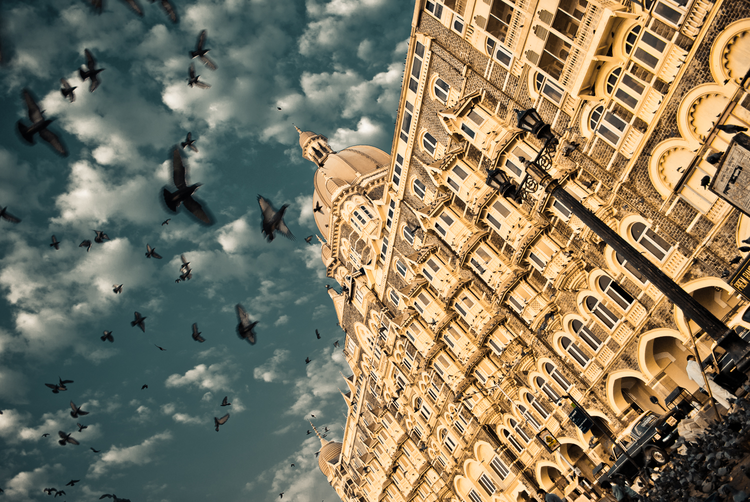 Flights of Freedom, at Gateway of India (Taj Mahal Hotel seen), Mumbai
