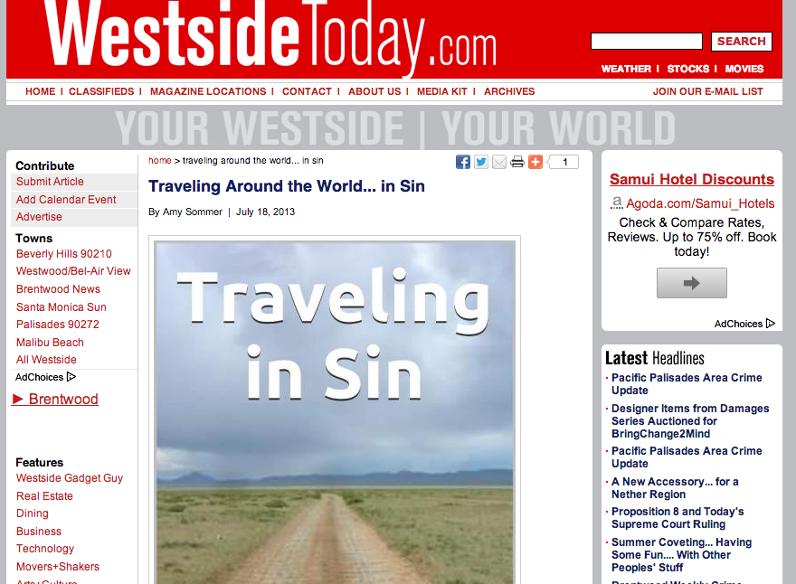Westside today traveling around the world..in sin