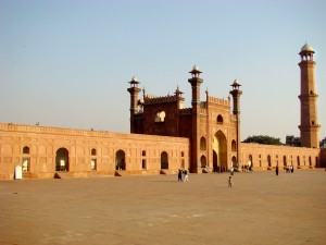 Inside the magnificient Badshahi mosque