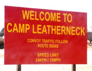 Camp Leatherneck Welcome Sign