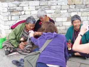 Elderly Bhutanese Women at National Memorial Chorten, Thimphu
