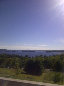 Sun beamed Southern facing view of Lake Winnipesaukee