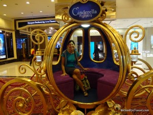 I loved sitting in Cinderella's carriage!