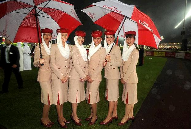 Even airline stewardesses employed by Emirates are expected to dress modestly. Photo Credit: Flickr CC user Ammar Adb Rabbo