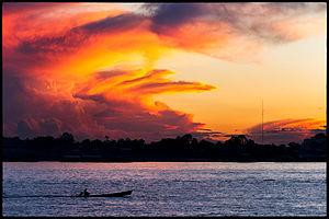 Sunset on the Amazon, Wikipedia Photo