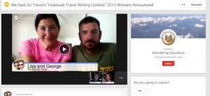 WSGT gratitude 2013 google hangout