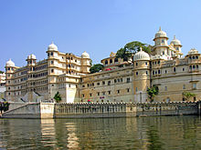 City Palace Beside Lake Pichola in Udaipur