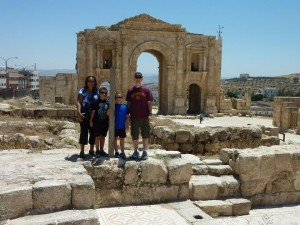 Jerash Family Picture Israel Trip