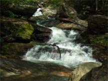waterfall in valley crucis