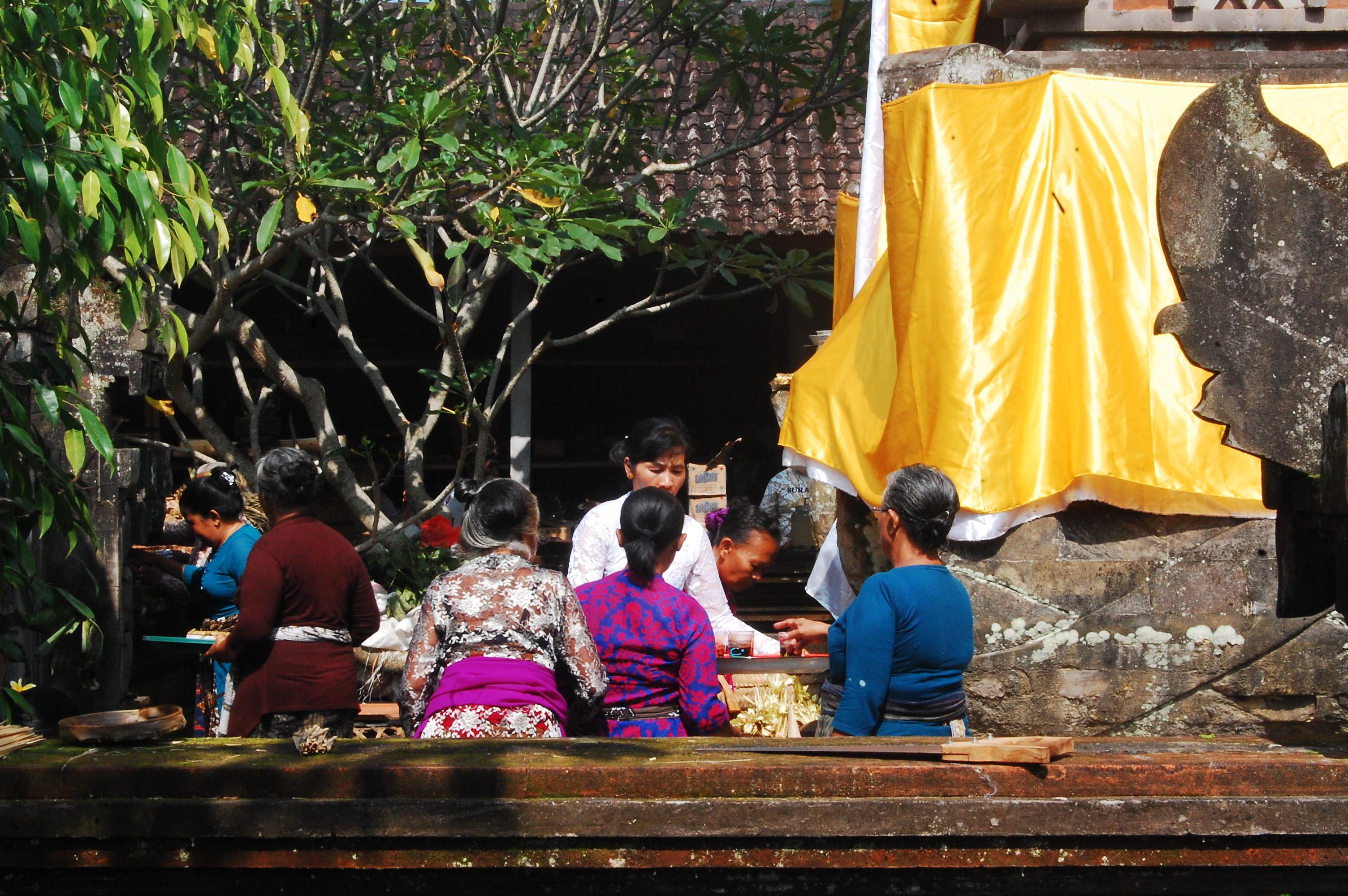 In a village temple in Gyaniar, Bali.
