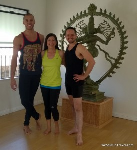 Join Yoga with Rocky and Noah Maze Yoga in Los Angeles (Rocky, Lisa, Noah pictured.)