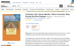 Traveling in SIn is a paperback