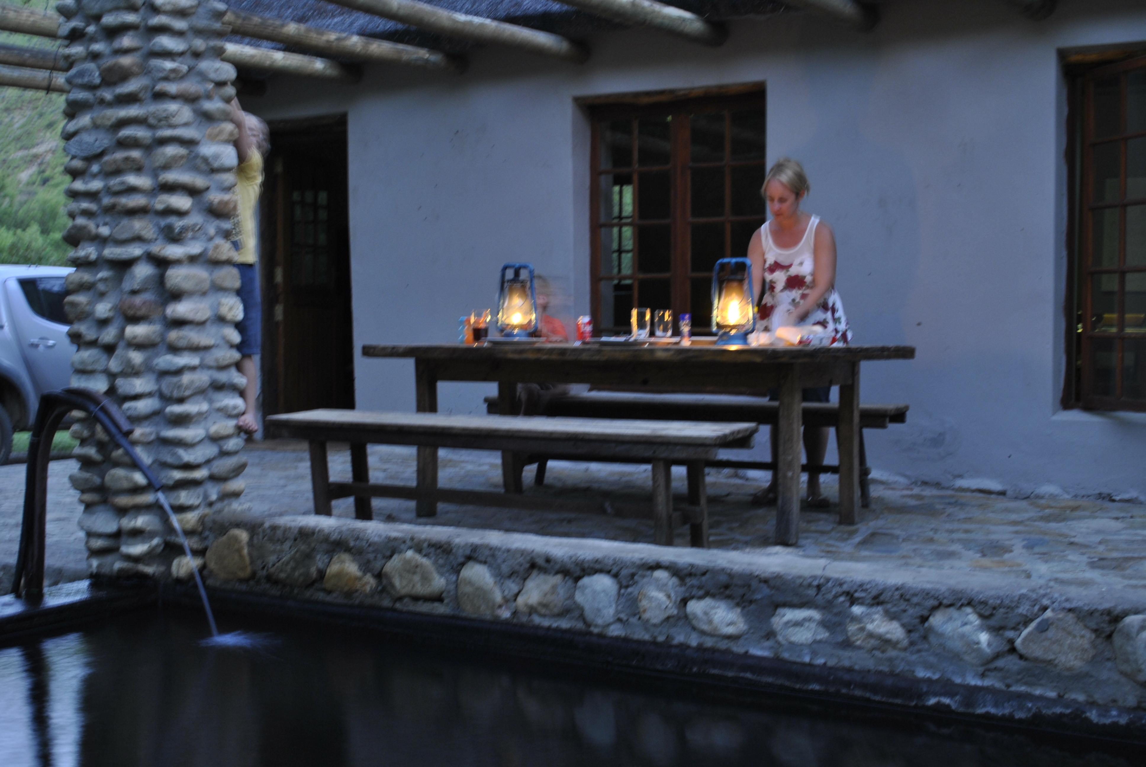 Dinnertime at Jan-Eentand Cottage - Gamkaskloof