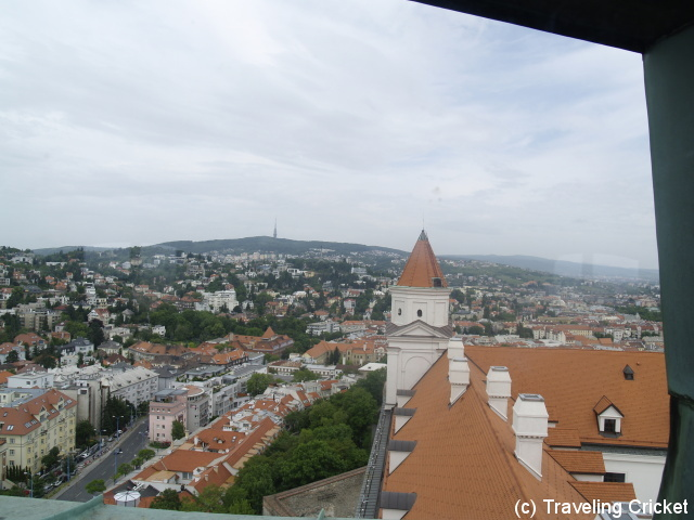 View from one of Bratislava's Castle Towers