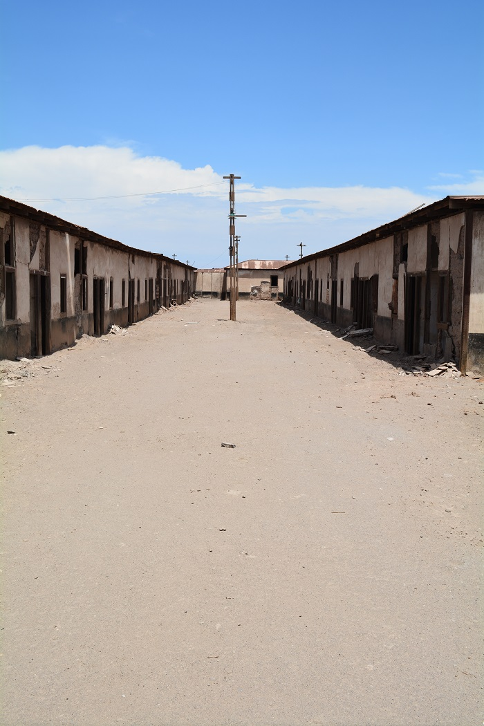 Narrow street of workers living units.