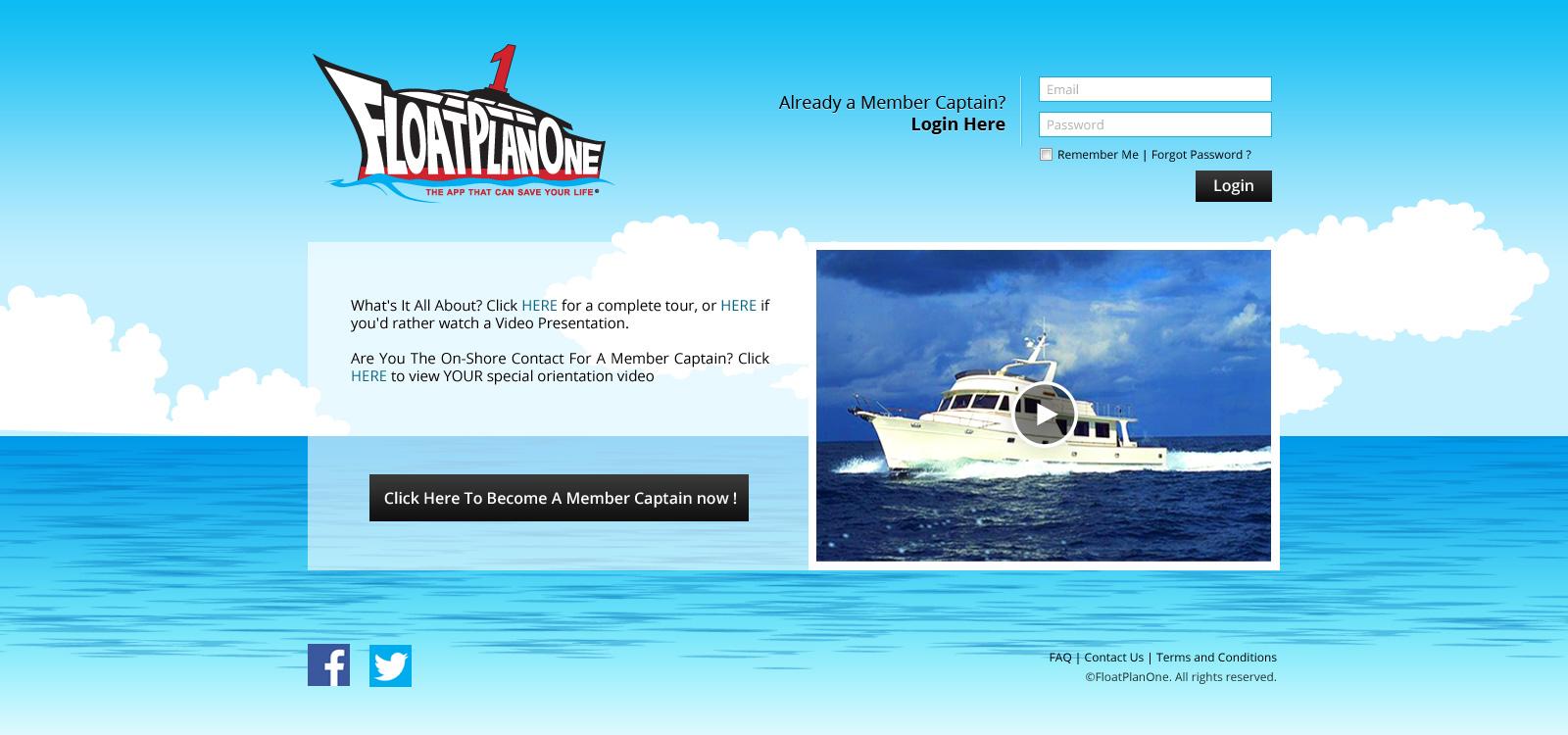 Float Plan One homepage