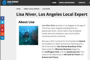 USA Today BIO Lisa Niver