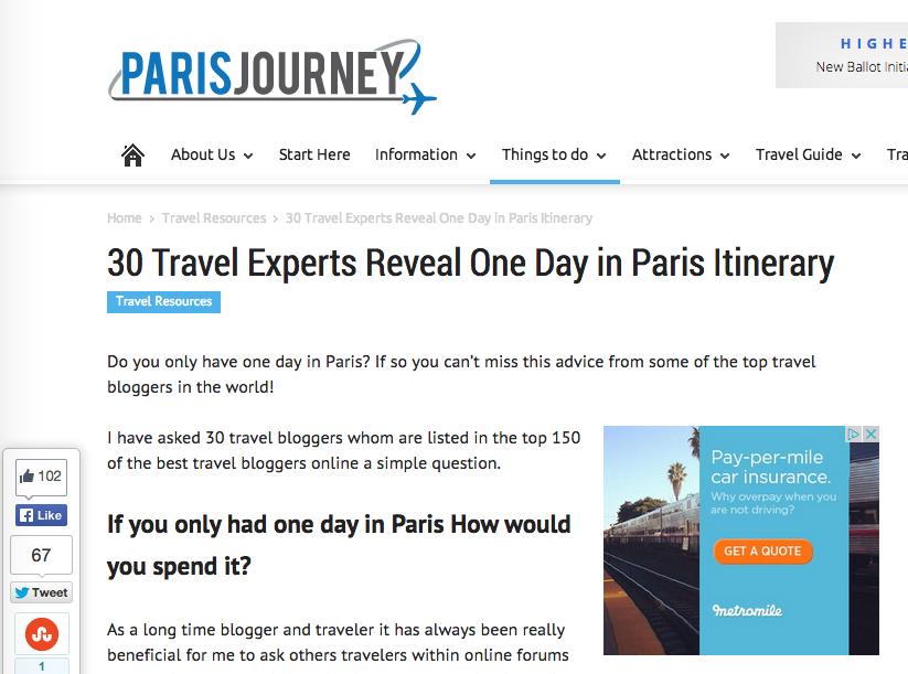 30bloggers about Paris