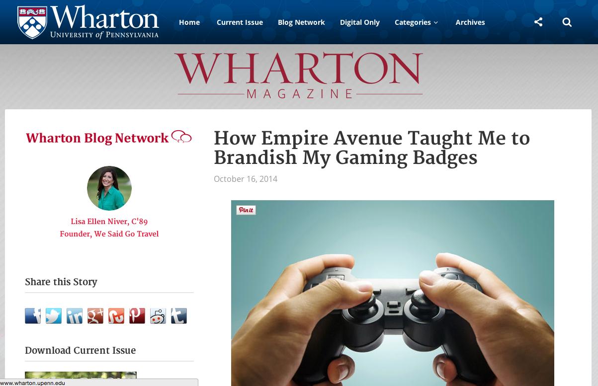 wharton brand article empire avenue
