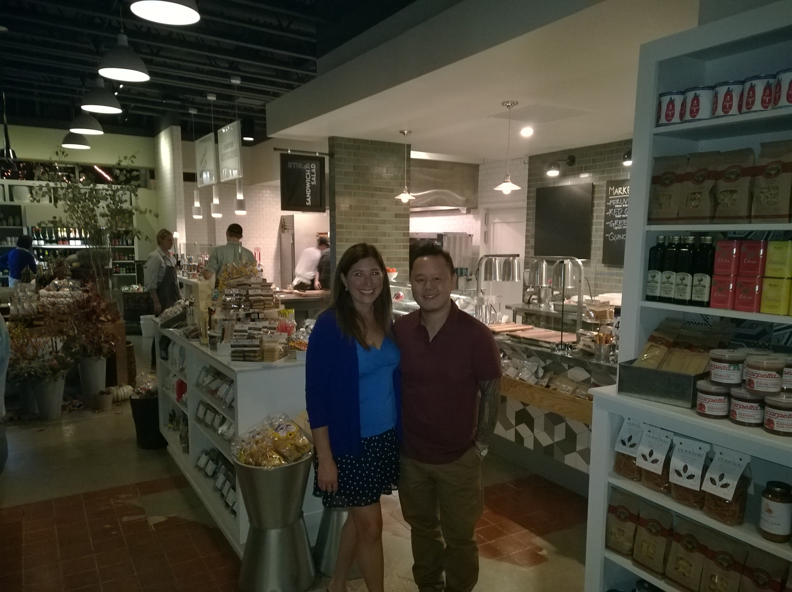 Lisa Niver & Chef Jet Tila at Stir Market