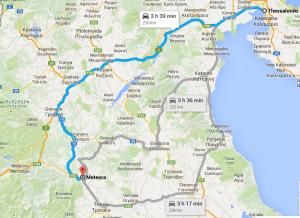 Map Thessaloniki - Meteora