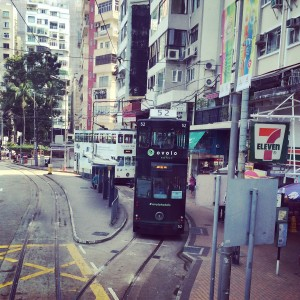 trams in Happy Valley