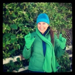 Lisa Niver Ireland green landsend clothes