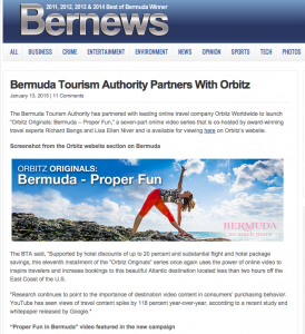 Bermuda News Orbitz #Rbquests Jan 14 2015