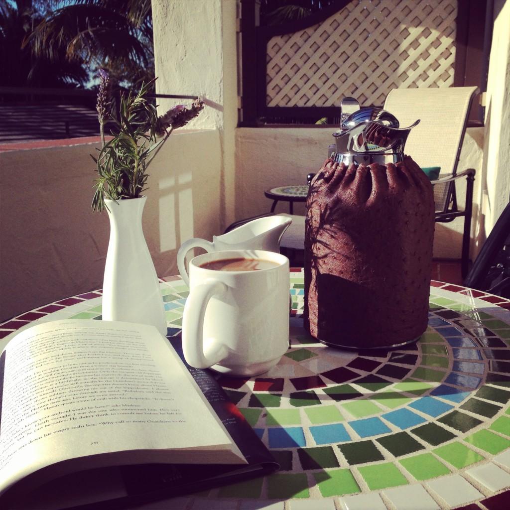 Morning coffee on my balcony
