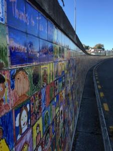 Gisborne Tuia 2000 painted tiles in Gisborne, New Zealand