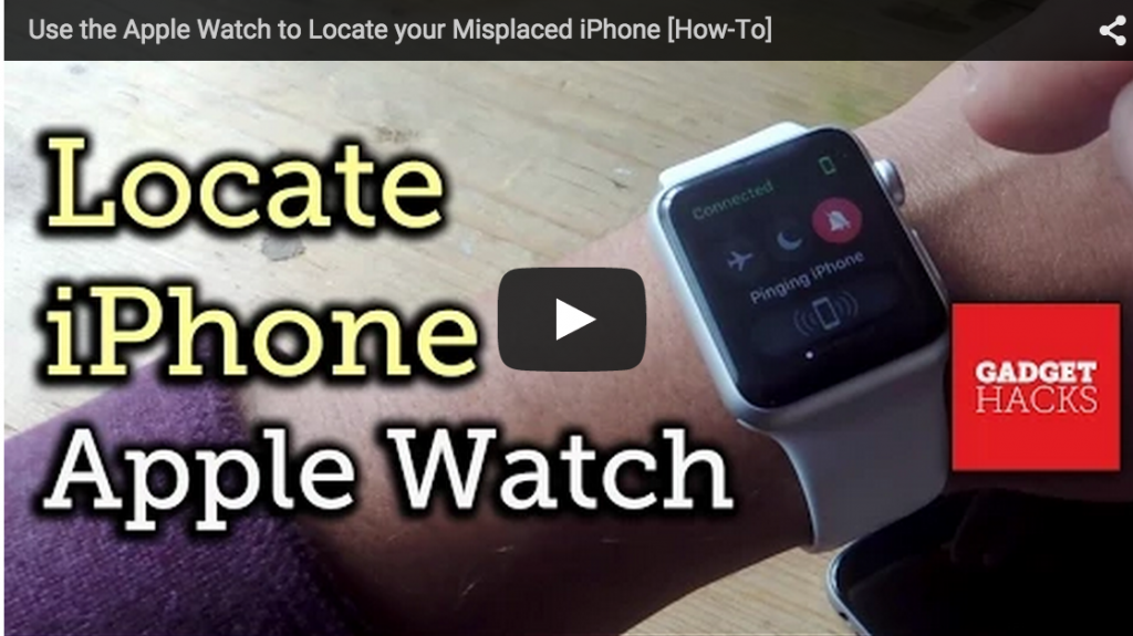 Apple Watch Ping YouTube Video