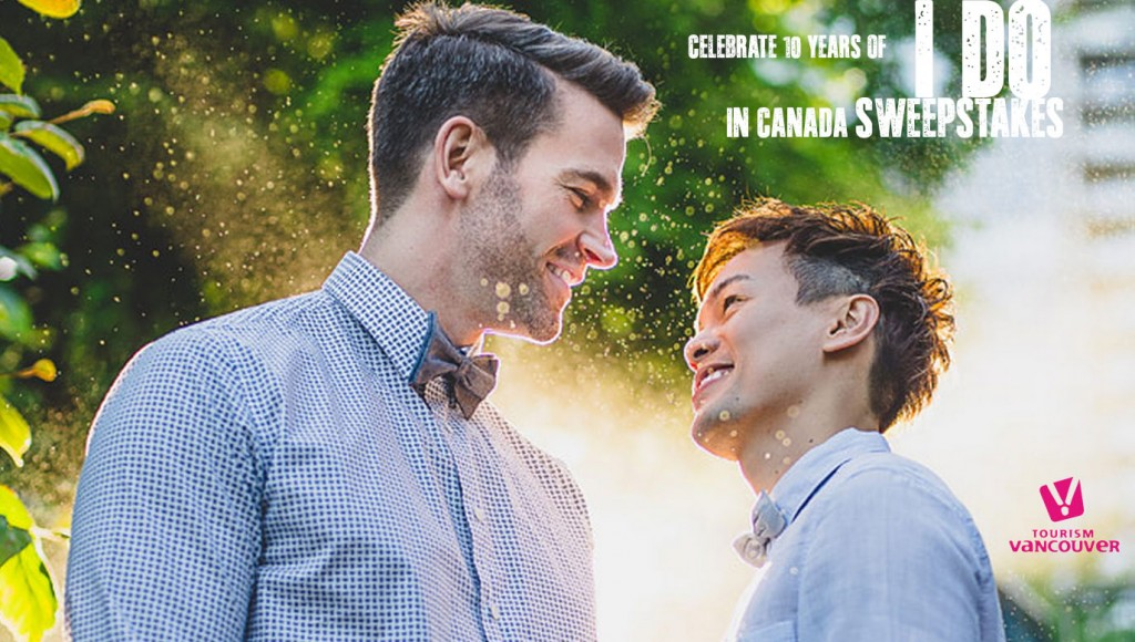 Tourism Vancouver Sweepstakes 10 Years of I Do