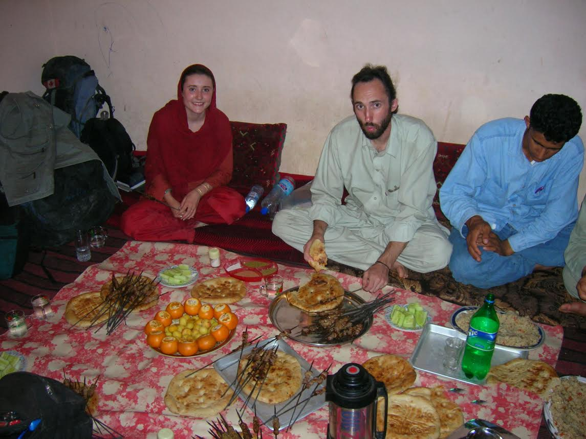 Locals sharing their home and meals with us. Left to right Me, my brother, and the local from the bus who invited us to his sister's home.