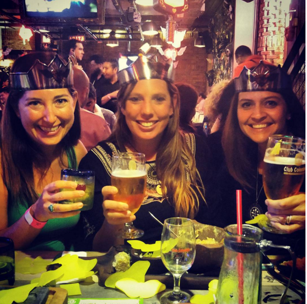 Lisa, Janeen and Cyd at Andres Carne De Res, Bogota